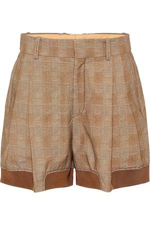 Chloé Checked stretch-cotton shorts