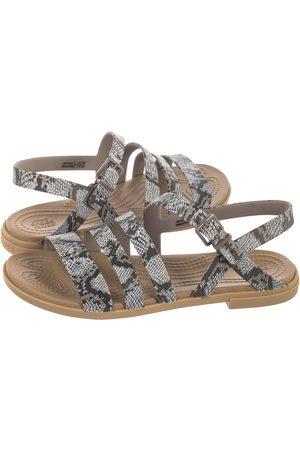 Crocs Kobieta Sandały - Sandały Tulum Sandal W Mushroom/Stucco 206107-15W (CR183-c)