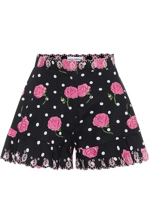 Paco Rabanne Floral cotton high-rise shorts