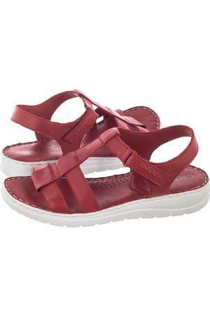 Caprice Kobieta Sandały - Sandały Czerwone 9-28151-24 501 Red Nappa (CP213-a)