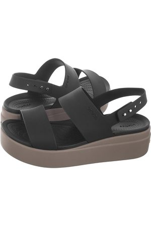 Crocs Sandały Brooklyn Low Wedge W Black/Mushroom 206453-07H (CR199-a)
