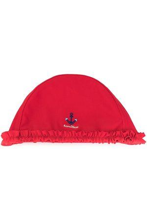 Familiar Dziewczynka Kapelusze - Embroidered-anchor beach hat