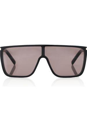 Saint Laurent SL 364 Mask flat-brow sunglasses