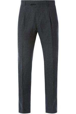 Strellson Mężczyzna Spodnie eleganckie - Spodnie do garnituru o kroju slim fit z lnu model 'Stirling'