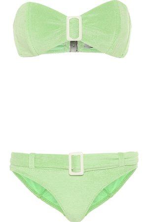 Lisa Marie Fernandez Kobieta Bikini - Buckle bandeau terrycloth bikini