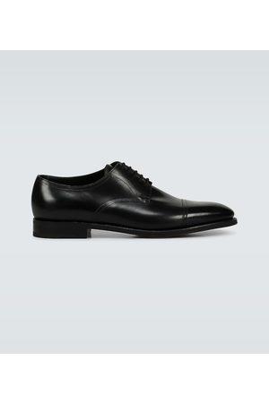 JOHN LOBB Loe leather derby shoes