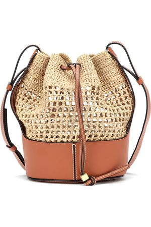 Loewe Paula's Ibiza Balloon Small raffia shoulder bag