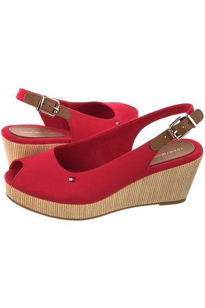 Tommy Hilfiger Koturny Iconic Elba Sling Back Wedge FW0FW04788-XLG Primary Red (TH122-c)