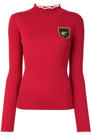 BAPY Ribbed embroidered jumper