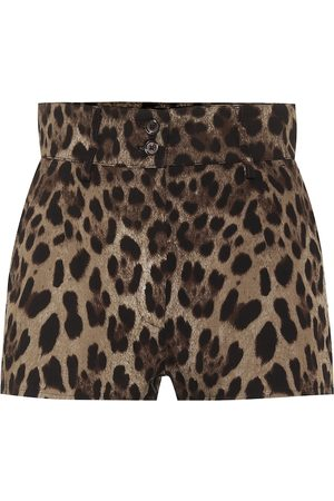 Dolce & Gabbana Kobieta Szorty - Leopard stretch-cotton shorts