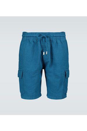 Vilebrequin Bojówki - Baie cargo linen shorts