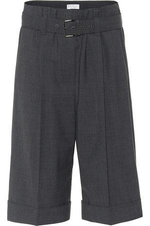 Brunello Cucinelli Kobieta Bermudy - Wool-blend Bermuda shorts