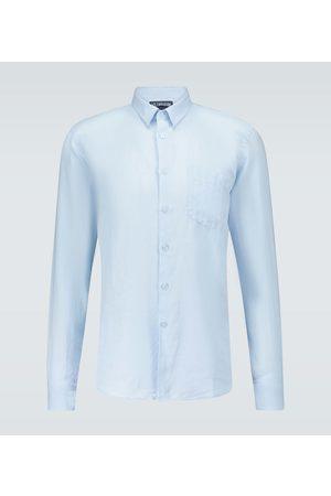 Vilebrequin Mężczyzna Na co dzień - Caroubis linen shirt