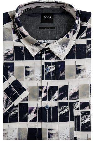 BOSS Casualwear Mężczyzna Na co dzień - Koszula casualowa o kroju slim fit z dodatkiem streczu model 'Magneton'