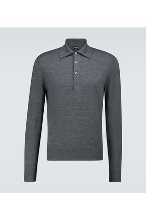 Tom Ford Wool long-sleeved polo shirt