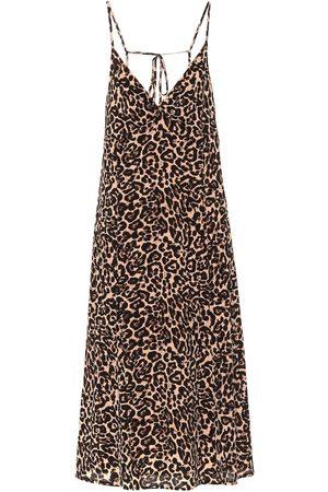 Baum und Pferdgarten Asta leopard-print midi dress