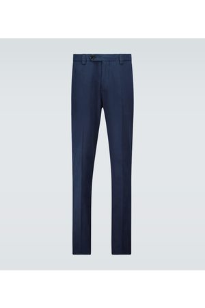 Brunello Cucinelli Bojówki - Leisure-fit gabardine cotton pants
