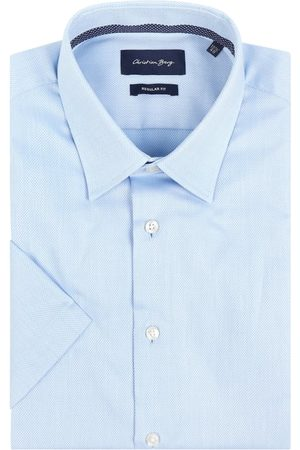 Christian Berg Koszula biznesowa o kroju regular fit z bawełny z krótkim rękawem
