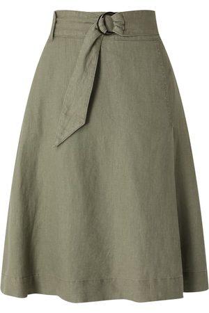 Christian Berg Kobieta Spódnice midi - Spódnica z mieszanki lnu i bawełny