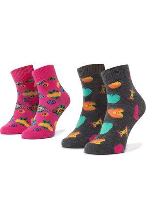 Happy Socks Zestaw 2 par wysokich skarpet dziecięcych - KAPP02-9000