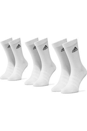 adidas Skarpety - Zestaw 3 par wysokich skarpet unisex - Light Crew 3Pp DZ9393 White/White/White