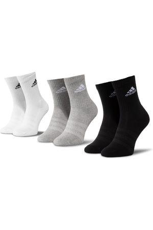 adidas Zestaw 3 par wysokich skarpet unisex - Cush Crw 3Pp DZ9355 Mgreyh/Mgreyh/Black