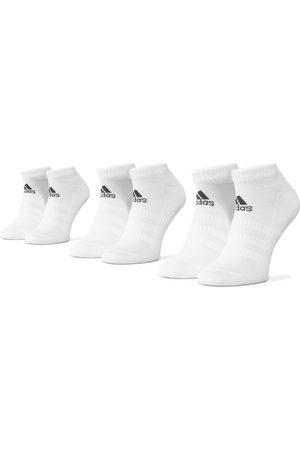 adidas Skarpety - Zestaw 3 par niskich skarpet unisex - Cush Low 3Pp DZ9384 White/White/White