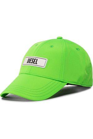Diesel Czapka z daszkiem - C-7Ele Hat 00SI7R-0CAXJ-5IL Green Fluo