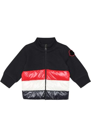 Moncler Baby down and cotton cardigan