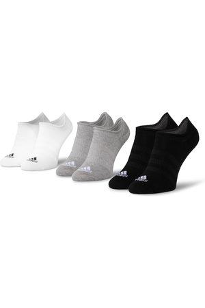 adidas Zestaw 3 par niskich skarpet unisex - Light Nosh 3PP DZ9414 Mgreyh/White/Black