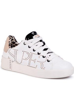 SuperTrash Kobieta Sneakersy - Sneakersy - Lewi Lsr W 2011 030501 Wht/Nud 1929