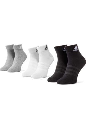 adidas Zestaw 3 par niskich skarpet unisex - Light Ank 3PP DZ9434 Mgreyh/White/Black