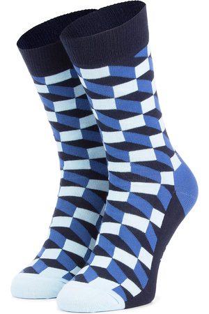 Happy Socks Skarpety Wysokie Unisex - FIO01-6000 Granatowy