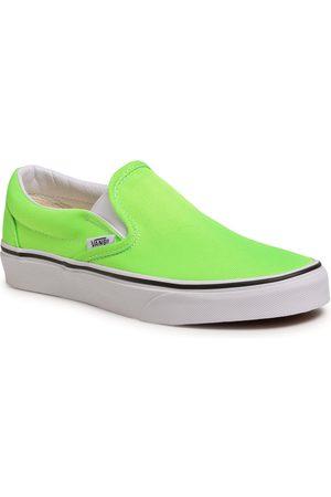 Vans Tenisówki - Classic Slip-On VN0A4U38WT51 (Neon)Green Gecko/Tr Wht