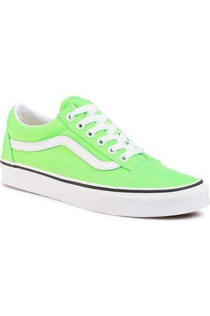Vans Tenisówki - Old Skool VN0A4U3BWT51 (Neon) Green Gecko/Tr Wht