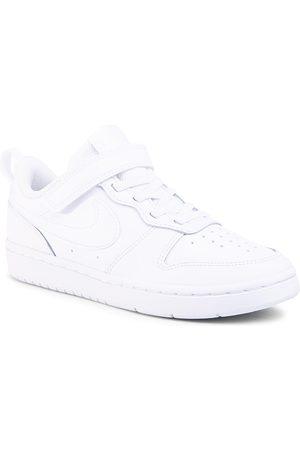 Nike Chłopiec Na plaskiej podeszwie - Buty - Court Borough Low 2 (Psv) BQ5451 100 White/White/White