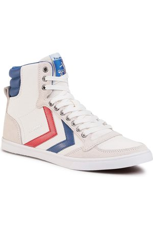 Hummel Sneakersy - Slimmer Stadil High 63511-9228 White/Blue/Red/Gum