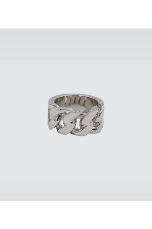 Alexander McQueen Metallic chain ring