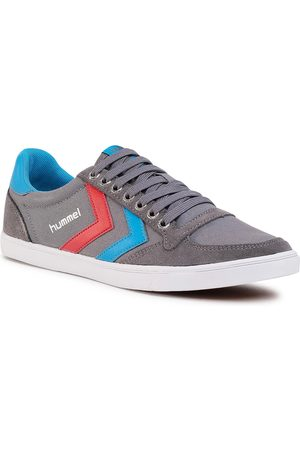 Hummel Tenisówki - Silmmer Stadil Low 63512-0528 Castle Rock/Ribbon Red/Bril Blue