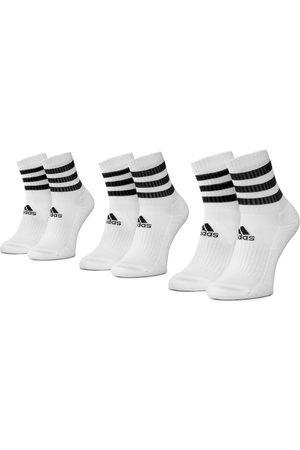 adidas Skarpety - Zestaw 3 par wysokich skarpet unisex - 3S Csh Crw3p DZ9346 White/White/White