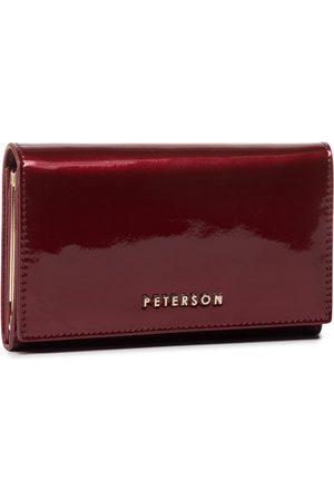 Peterson Duży Portfel Damski - 466-09-03-07 Bordowy
