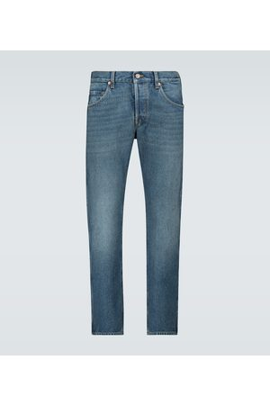 Gucci Straight - Washed denim tapered jeans