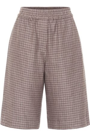 Brunello Cucinelli Linen and wool-blend Bermuda shorts