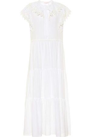 Chloé Kobieta Sukienki midi - Cotton-voile midi dress