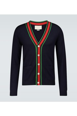 Gucci Kardigany - Knitted wool cardigan
