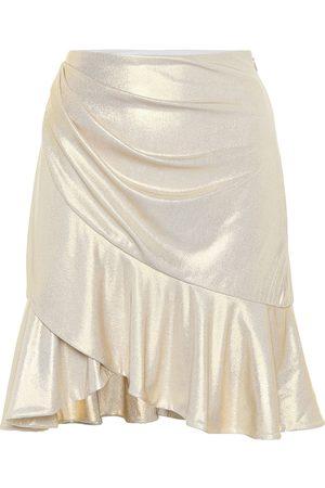 Balmain Kobieta Szorty - Exclusive to Mytheresa – Ruffle-trimmed lamé miniskirt