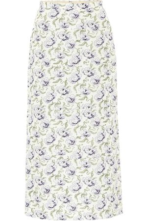 BROCK COLLECTION Rapa floral cotton-blend midi skirt