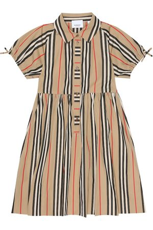 Burberry Icon Stripe cotton-poplin dress
