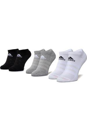 adidas Skarpety - Zestaw 3 par niskich skarpet unisex - Cush Low 3Pp DZ9383 Mgreyh/White/Black