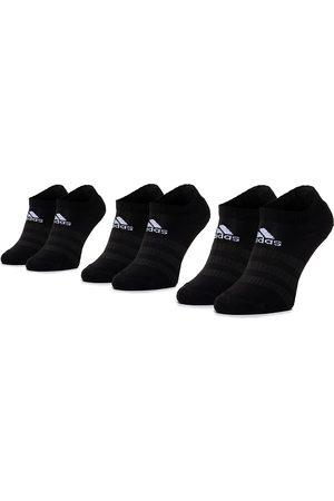 adidas Zestaw 3 par niskich skarpet unisex - Cush Low 3PP DZ9385 Black/Black/Black